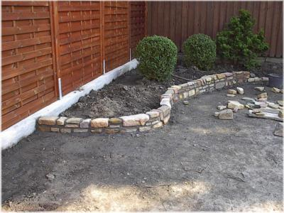 Natursteinarbeiten - Garten beeteinfassung stein ...